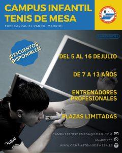 Campus Tenis de Mesa Madrid 2021